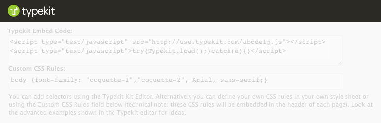 Best plugin to add typekit fonts for WordPress