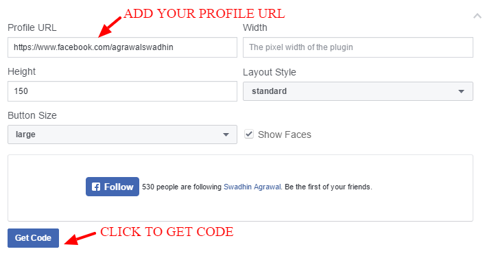 How to add Facebook follow button on WordPress