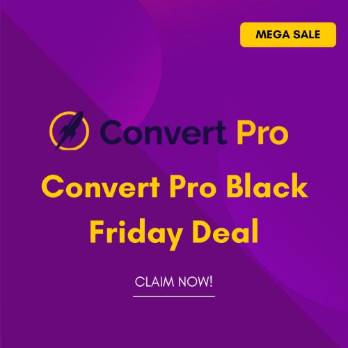 Convert Pro Black Friday Deal 2021