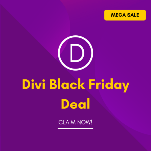Divi Black Friday Deal Discount 2021