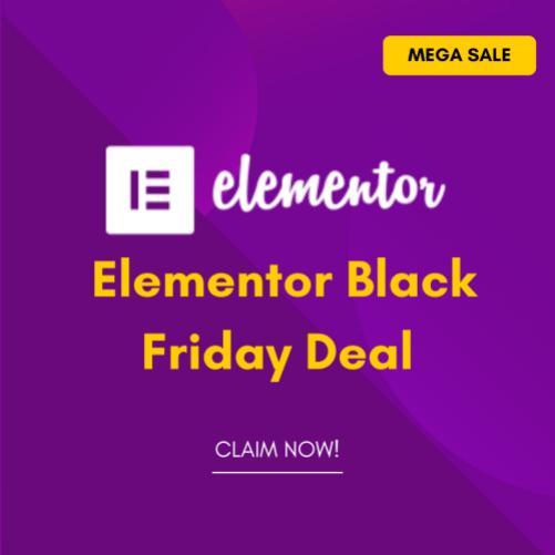 Elementor Pro Black Friday Cyber Monday Deal 2021