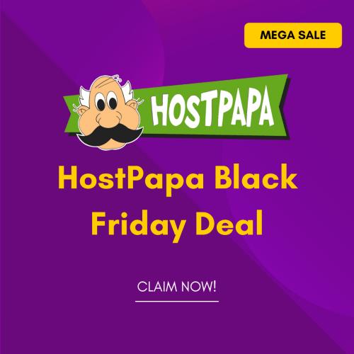 HostPapa Black Friday Deal 2021
