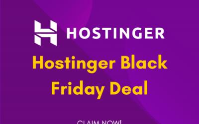 Hostinger Black Friday Deal 2021: Get 60% OFF [Mega Sale]