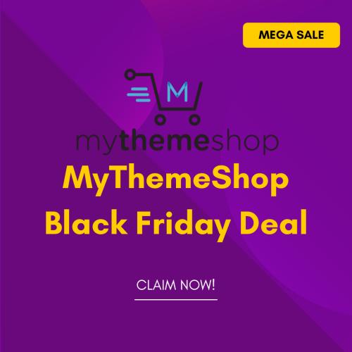 MyThemeShop Black Friday Deal 2021