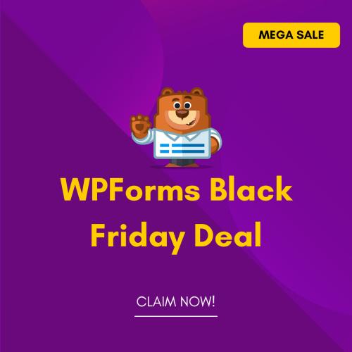 WPForms Black Friday Deal Discount coupon