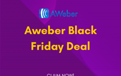 Aweber Black Friday Deal 2021: Get 60% OFF on All Plans [Verified]