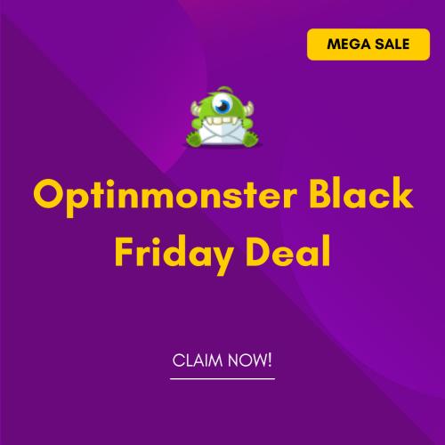 Optinmonster Black Friday deal